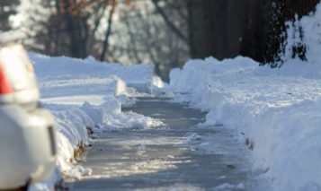 Johnson County sidewalk snow