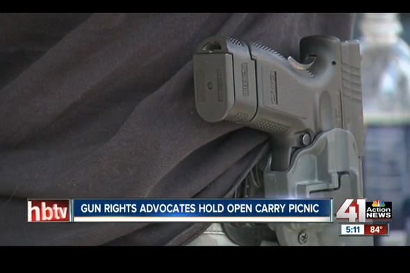 41 Action News has video of the open carry picnic in Lenexa.