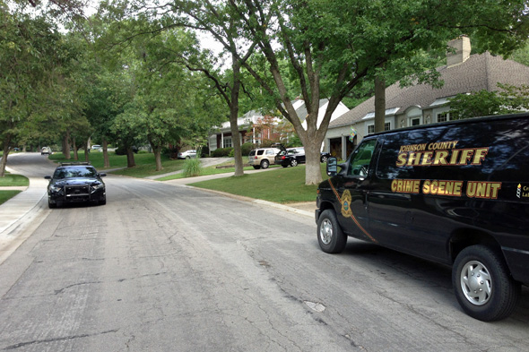 The Johnson County Sheriff's Crime Scene Unit was investigating the burglary Friday.