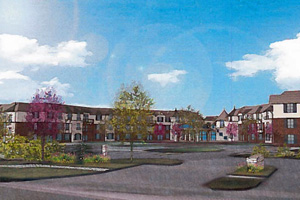 A recent rendering of Mission Chateau from Mission Road.