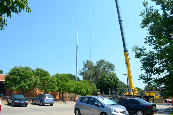 Work was being performed on the tower near 63rd and Mission in the last couple of weeks.