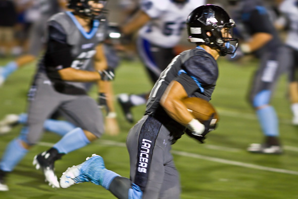 Mitchell Tyler continued to be the go-to option in the Lancers' wishbone offense.