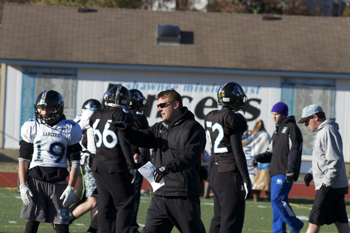 Head coach Dustin Delaney called the shots from the SM East football field Thursday during an unprecedented Thanksgiving practice.