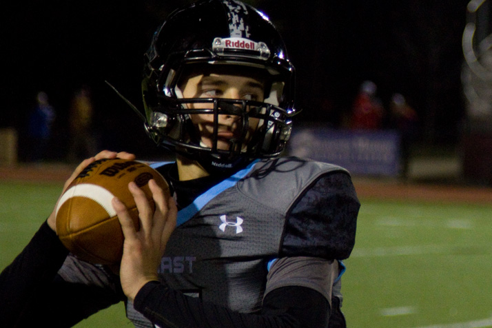 Junior quarterback Gunnar Englund, who stepped into the role late in the season after injury forced Christian Blessen to the sidelines, operated efficiently all night long.