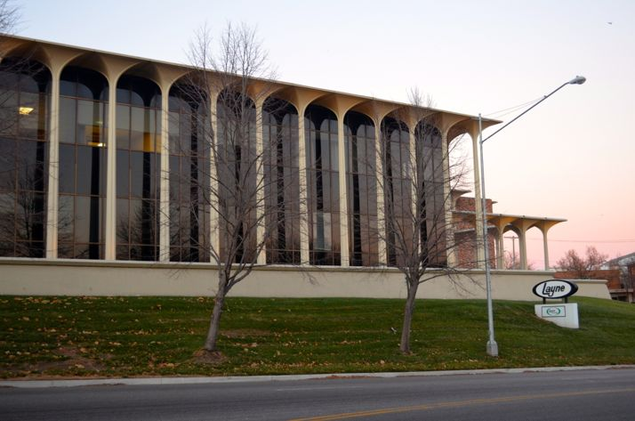The Layne Christensen building at 1900 Shawnee Mission Parkway near State Line has been sold.