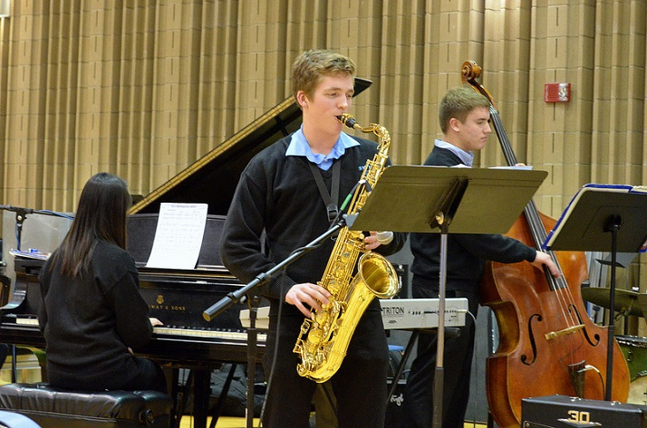 SM East's Blue Knights were named Outstanding Ensemble at the KU Jazz Festival. Photo courtesy SME Bands via their Flickr page.
