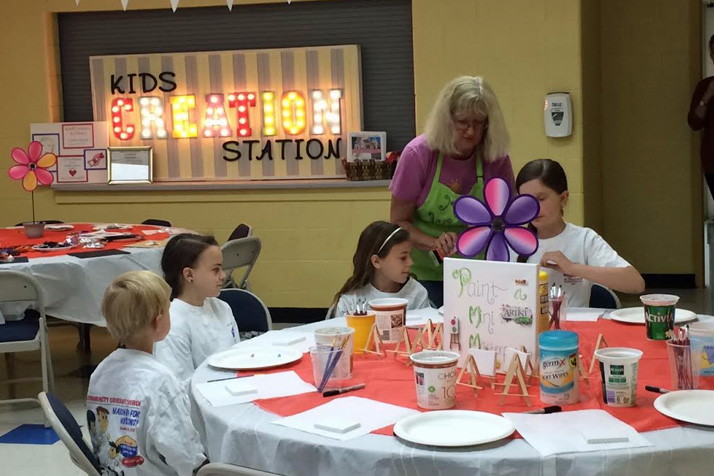 Kids expressed their own creativity at the Kids Creation Station.