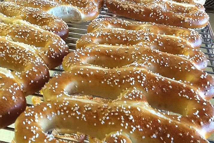 Pretzel Boy's will offer hand-twisted soft pretzels. Photo via Pretzel Boy's.