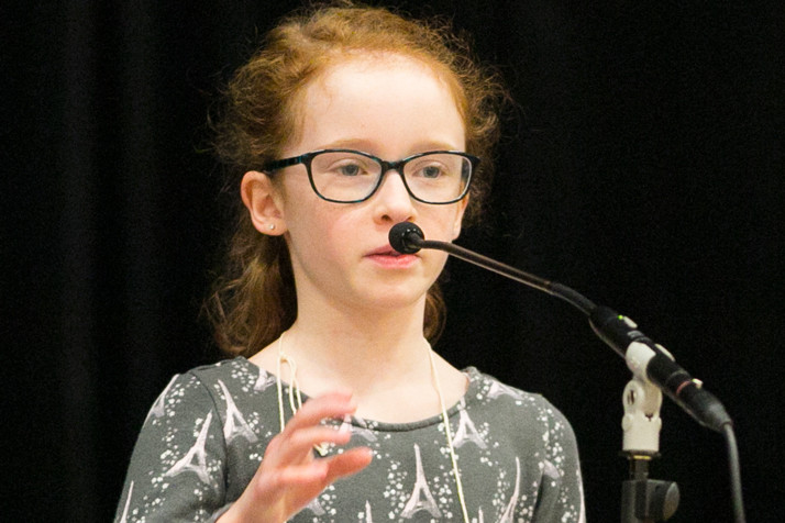 Mira McInnes from Corinth Elementary was among the 12 competitors to advance to the final round.