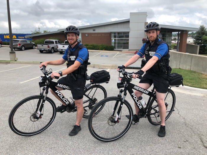 Merriam police bicycles