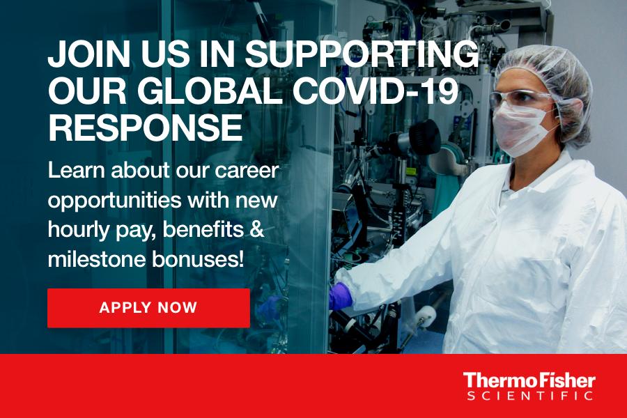ThermoFisher looking for more than 300 new team members