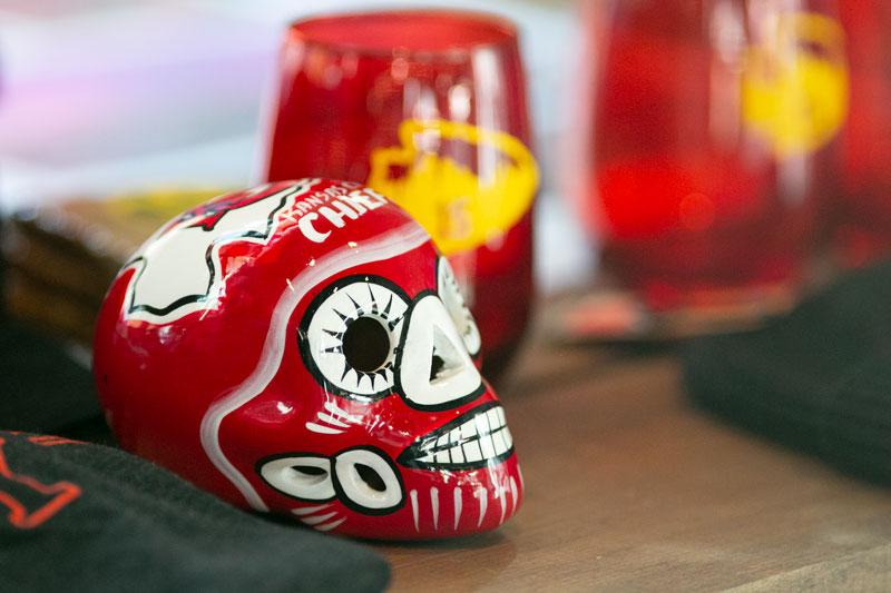 Chiefs sugar skull decoration