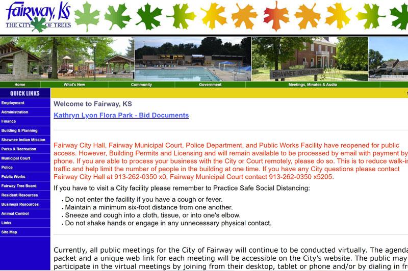 The Fairway Kansas city website