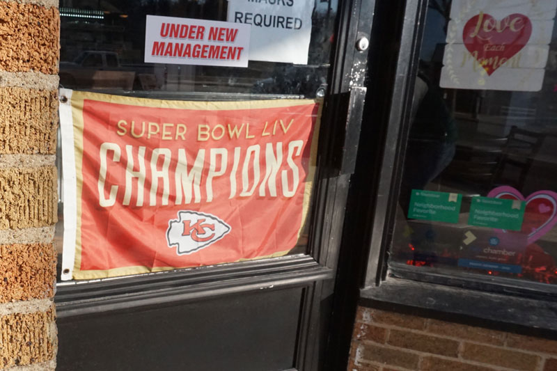 Brians Bakery Chiefs Super Bowl flag