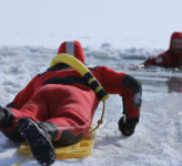 Overland Park ice water rescue