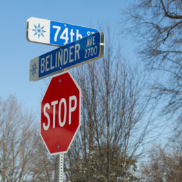 74th and Belinder stop sign