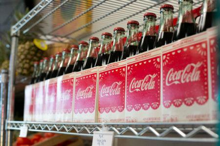 Taco Naco KC Coca Cola at market