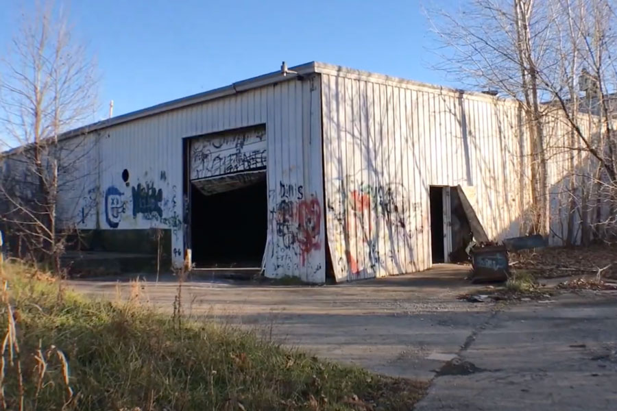 Abandoned Johnson County warehouse