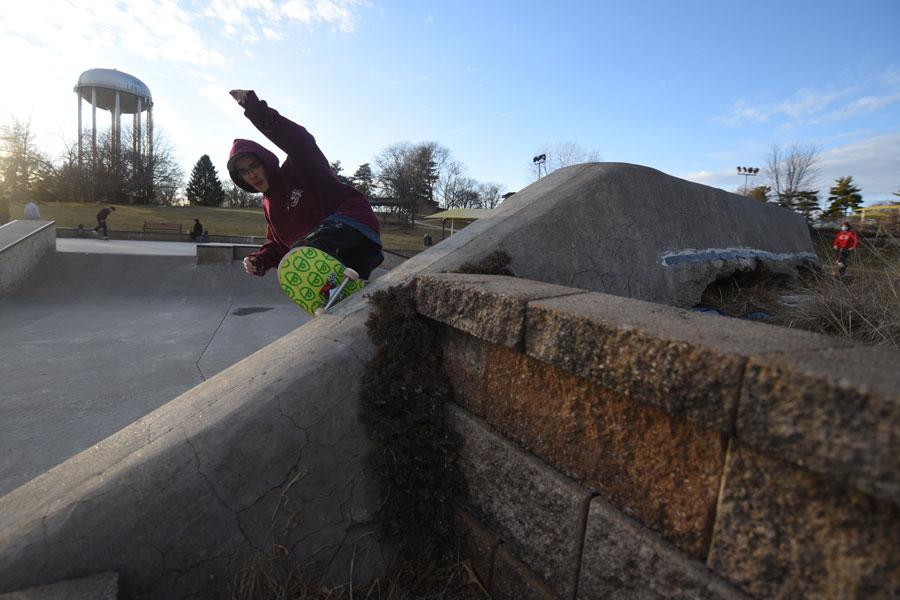 Skater at Harmon Park