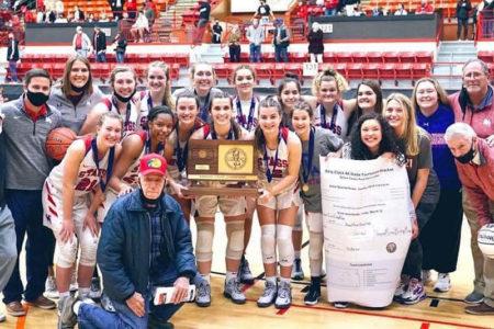 Bishop Miege state championship girls' basketball 2021