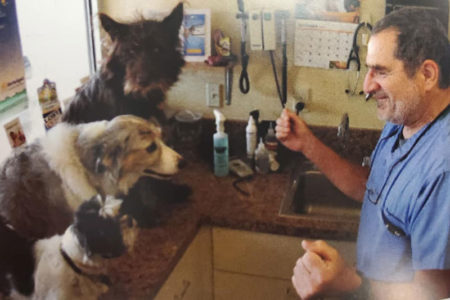 James Guglielmino and two dogs