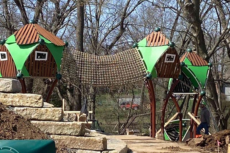 Wilder Bluff Park treetop equipment