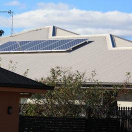 Residential solar panel array