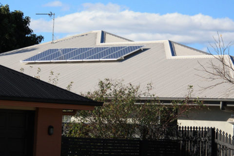 Residential solar panel array