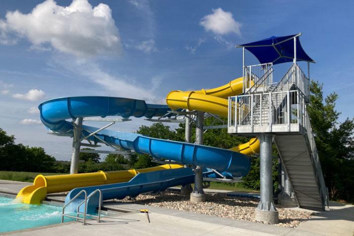 Roeland Park aquatic center slides