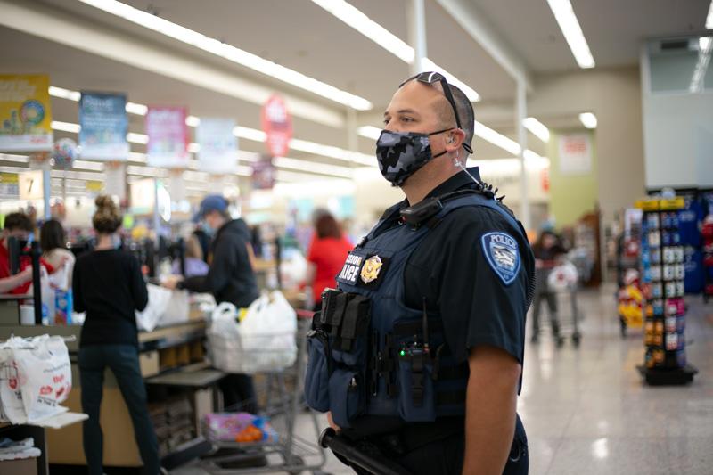 Johnson County police masks