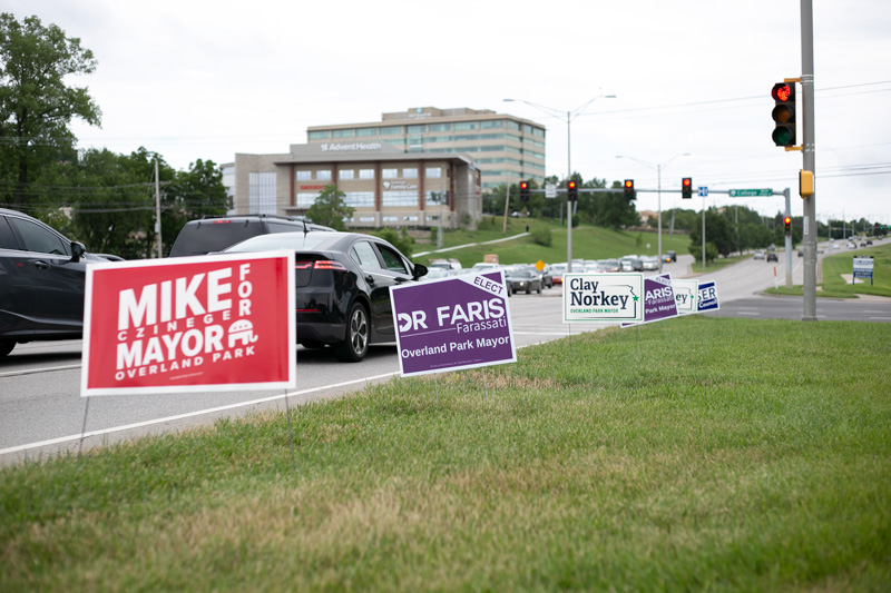 Johnson County campaign signs