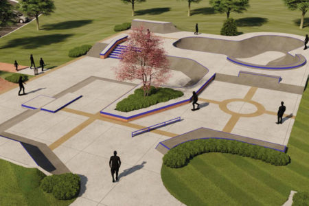 Harmon Park skate park rendering