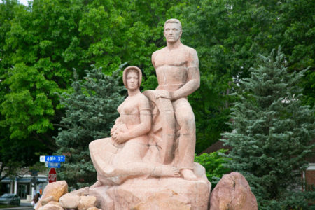 Homesteaders sculpture PV