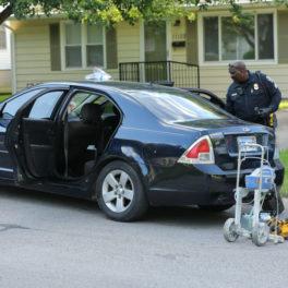 Shawnee crashed car