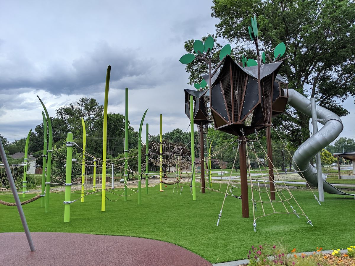 The Grove playground at Meadowbrook