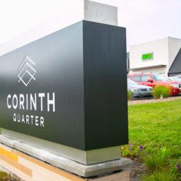 Corinth Quarter sign PV