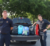 PV Back to School with a firefighter