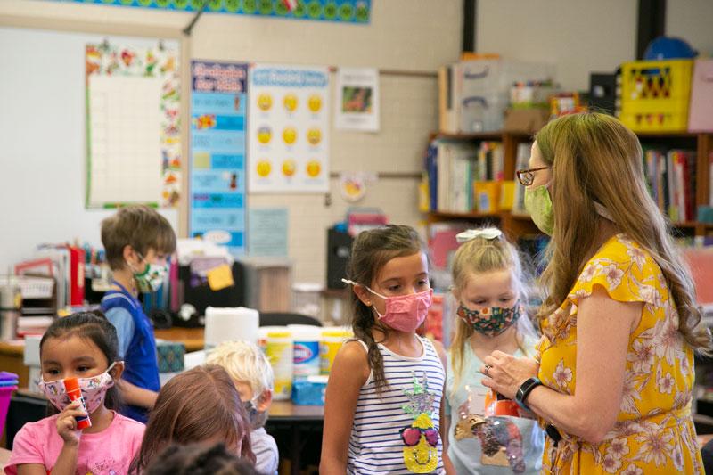 Students seek teacher help