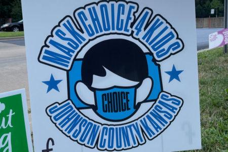 Mask Choice 4 Kids sign