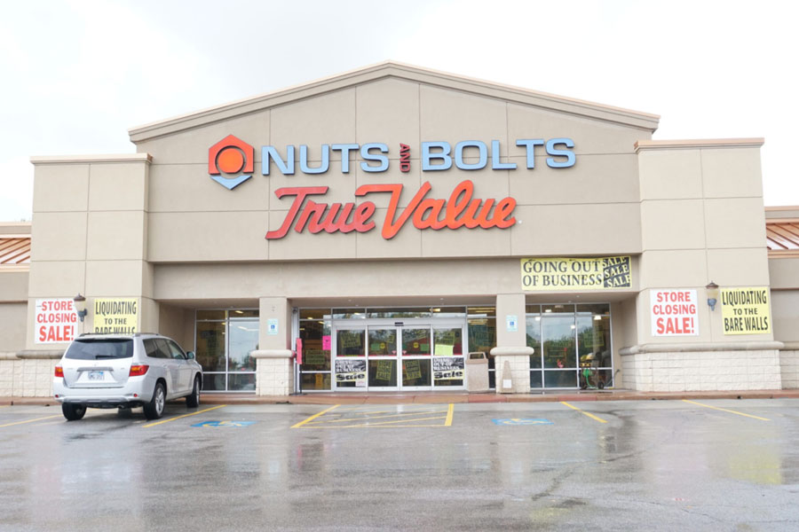 Nuts and Bolts True Value in Overland Park going out of business, offering steep discounts