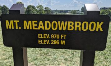 Mt. Meadowbrook sign