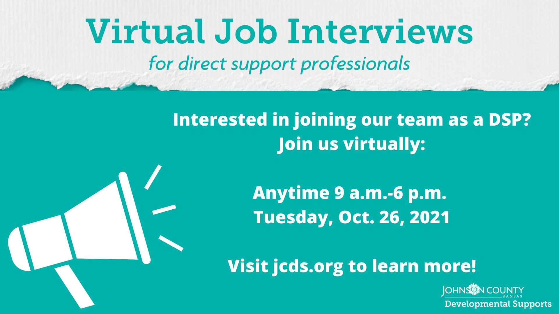 Featured Event: Johnson County Developmental Supports virtual job interviews